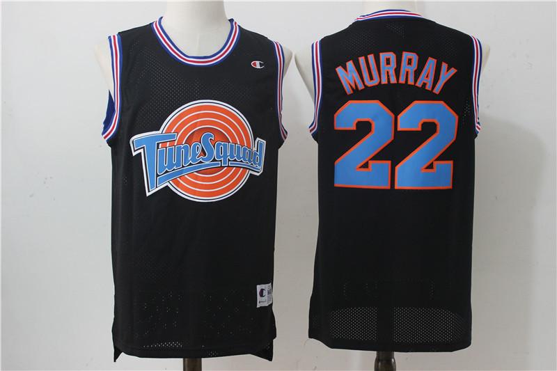 Tune Squad 22 Murray Black Stitched Movie Jersey