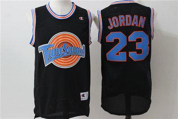 Tune Squad 23 Michael Jordan Black Stitched Movie Jersey