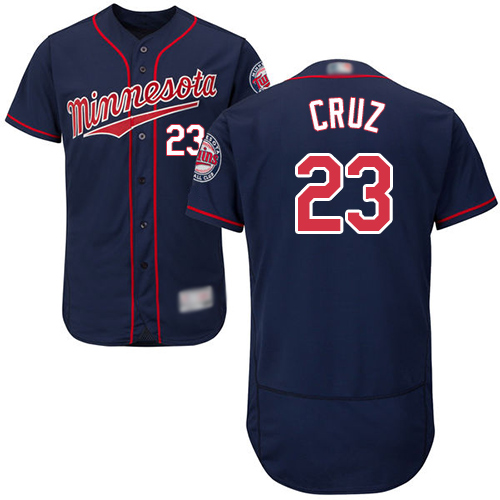 Twins #23 Nelson Cruz Navy Blue Flexbase Authentic Collection Stitched Baseball Jersey
