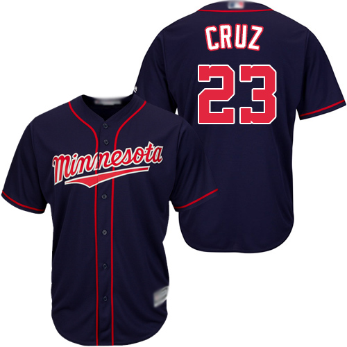 Twins #23 Nelson Cruz Navy blue Cool Base Stitched Youth Baseball Jersey