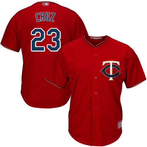 Twins #23 Nelson Cruz Red Cool Base Stitched Youth Baseball Jersey