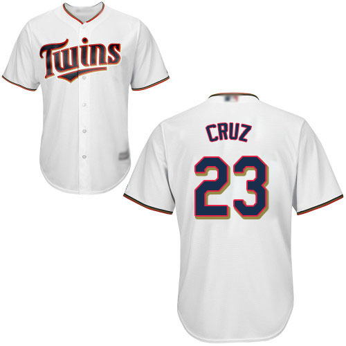 Twins #23 Nelson Cruz White Cool Base Stitched Youth Baseball Jersey