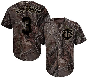 Twins #3 Harmon Killebrew Camo Realtree Collection Cool Base Stitched Baseball Jersey