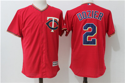 Twins 2 Brian Dozier Red Alternate Cool Base Jerse