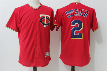 Twins 2 Brian Dozier Red Alternate Cool Base Jersey