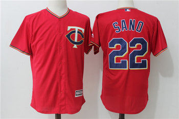 Twins 22 Miguel Sano Red Alternate Cool Base Jersey