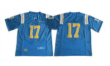 UCLA Bruins 17 Brett Hundley Blue College Football Jerseys