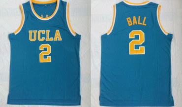 UCLA Bruins 2 Lonzo Ball Blue College Basketball Jersey