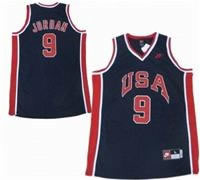 USA Olympic Jersey 9 Michael Jordan Dream Team Navy Blue