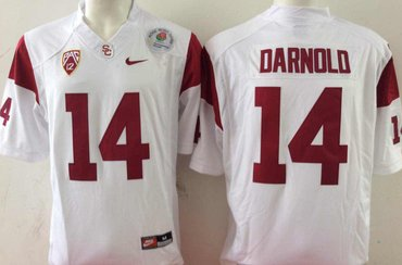USC Trojans 14 Sam Darnold White College Football Jersey