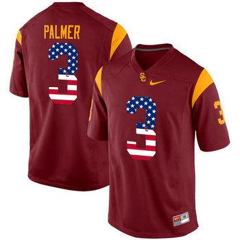 USC Trojans 3 Carson Palmer Red USA Flag College Football Jersey