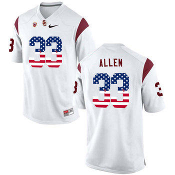 USC Trojans 33 Marcus Allen White USA Flag College Football Jersey