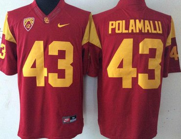 USC Trojans 43 Troy Polamalu Red College Football Jersey