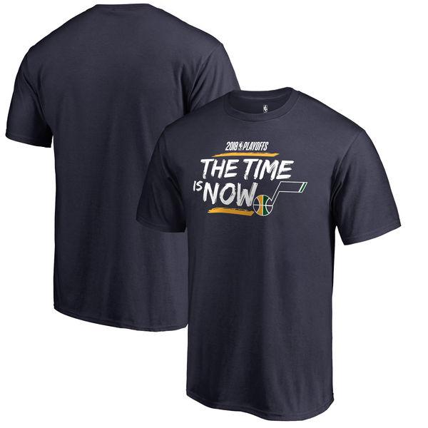 Utah Jazz Fanatics Branded 2018 NBA Playoffs Bet Slogan T-Shirt Navy