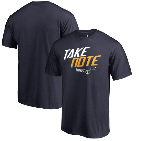 Utah Jazz Fanatics Branded 2018 NBA Playoffs Slogan T-Shirt Navy