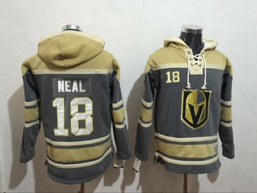 Vegas Golden Knights 18 James Neal All Stitched Hooded Sweatshirt