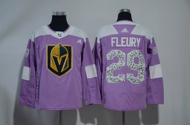 Vegas Golden Knights 29 Marc-Andre Fleury Fights Cancer Montreal Adidas Jersey