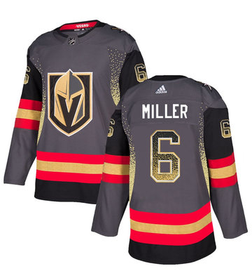 Vegas Golden Knights 6 Colin Miller Gray Drift Fashion Jersey