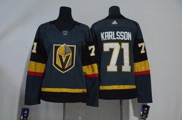 Vegas Golden Knights 71 William Karlsson Gray Women Adidas Jersey
