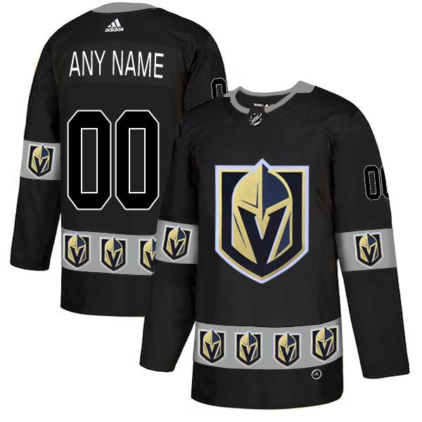Vegas Golden Knights Black Men's Customized Team Logos Fashion Adidas Jersey