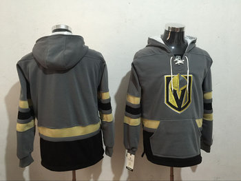 Vegas Golden Knights Blank Gray All Stitched Hooded Sweatshirt