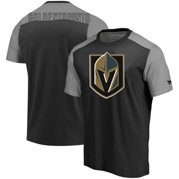 Vegas Golden Knights Fanatics Branded Iconic Blocked T-Shirt Black Heathered Gray