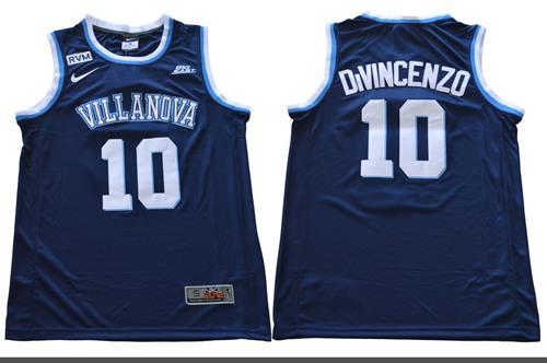 Villanova Wildcats #10 Donte DiVincenzo Navy Blue Basketball Stitched NCAA Jersey