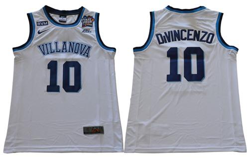 Villanova Wildcats #10 Donte DiVincenzo White Basketball Stitched NCAA Jersey