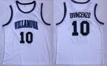 Villanova Wildcats 10 Donte Divincenzo White College Basketball Jersey