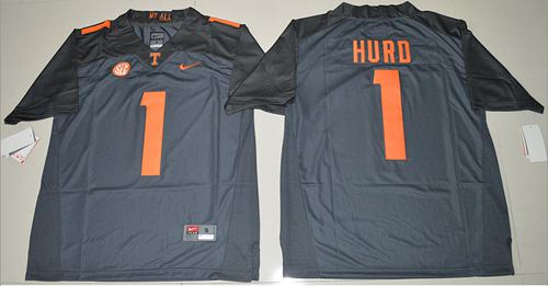 Vols #1 Jalen Hurd Grey Limited Stitched NCAA Jersey