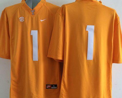 Vols #1 Orange Stitched NCAA Jersey