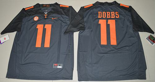 Vols #11 Joshua Dobbs Grey Limited Stitched NCAA Jersey