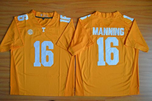Vols #16 Peyton Manning Orange Stitched NCAA Jersey