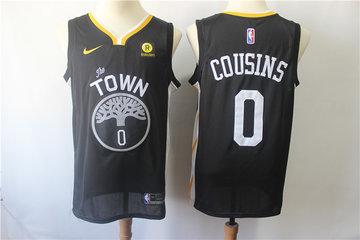 Warriors 0 DeMarcus Cousins Black Nike Swingman Jersey