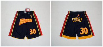 Warriors 30 Stephen Curry Navy Champions Shorts