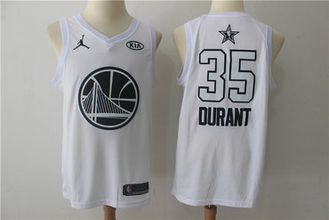 Warriors 35 Kevin Durant White 2018 All-Star Game Swingman Jersey