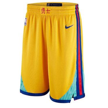 Warriors Gold City Edition Nike Swingman Shorts
