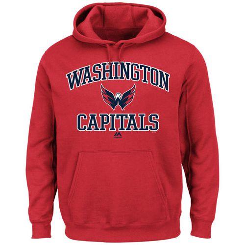 Washington Capitals Majestic Heart & Soul Hoodie Red