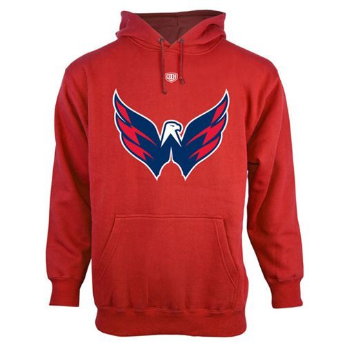 Washington Capitals Old Time Hockey Big Logo with Crest Pullover Hoodie Red