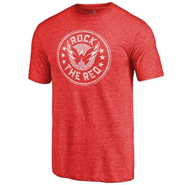 Washington Capitals Red Hometown Collection Presidential Tri Blend T-Shirt
