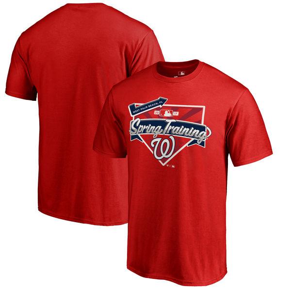 Washington Nationals Fanatics Branded 2017 MLB Spring Training Team Logo Big & Tall T Shirt Red