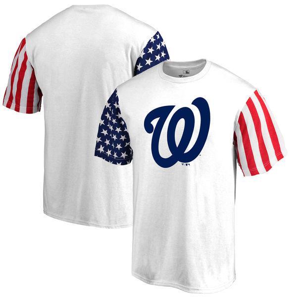 Washington Nationals Fanatics Branded Stars & Stripes T-Shirt White