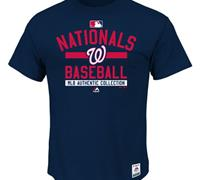Washington Nationals Majestic Big & Tall Authentic Collection Team Navy Property T-Shirt
