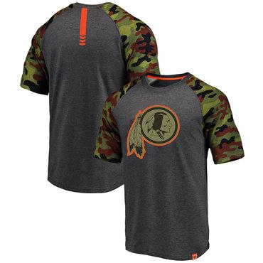 Washington Redskins Heathered Gray Camo NFL Pro Line By Fanatics Branded T-Shirt