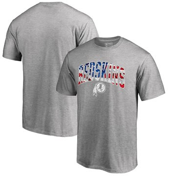 Washington Redskins Pro Line By Fanatics Branded Banner Wave T-Shirt Heathered Gray