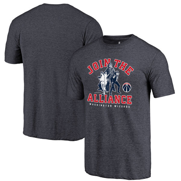 Washington Wizards Fanatics Branded Navy Star Wars Alliance Tri-Blend T-Shirt