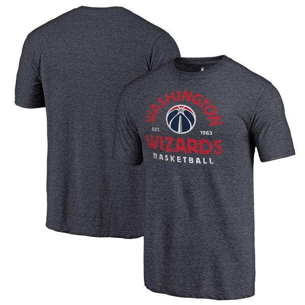 Washington Wizards Fanatics Branded Navy Vintage Arch Tri-Blend T-Shirt