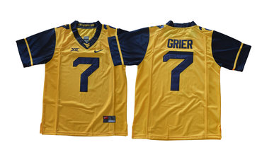 West Virginia Mountaineers 7 Will Grier Gold College Football Jersey