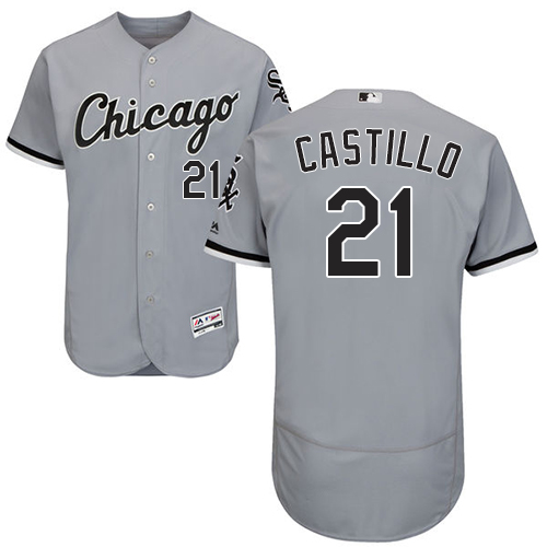 White Sox #21 Welington Castillo Grey Flexbase Authentic Collection Stitched Baseball Jersey