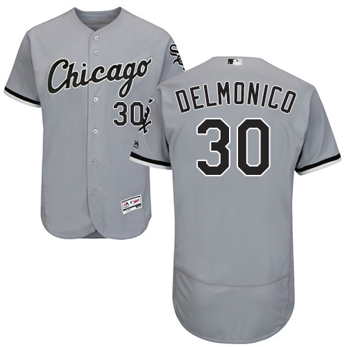 White Sox #30 Nicky Delmonico Grey Flexbase Authentic Collection Stitched Baseball Jerseys